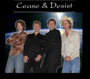 Cease and Desist featuring - left to right - Ian Cameron, Mark LaFrance, Mick Dallavee, Brent Knudsen