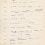 Balderdash Setlist One 1