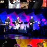 On Stage with Don Felder and Bruce Greenwood (collage)