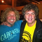 Sammy Hagar With Mick Dallavee. Brothers separated at birth perhaps?