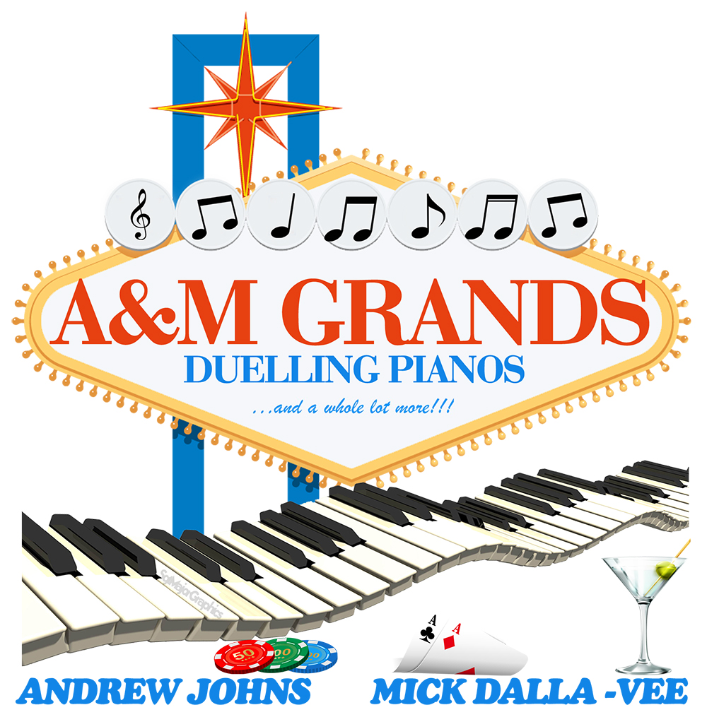 A and M Dueling pianos. A & M Dueling Pianos. A&M Dueling Grand Pianos. A&M Grands have transformed the 'Dueling Pianos' experience into something completely different.  Contact Mick Dalla Vee.